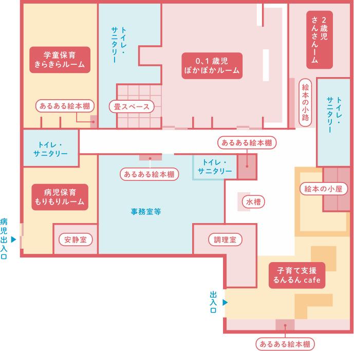園舎のフロアマップ